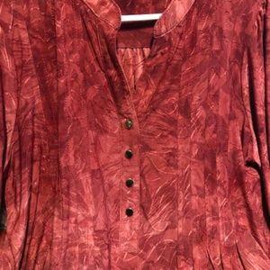Dress Barn Top Fall Color Blouse 1X